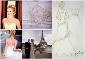 Bridal designer Lola and Em's wedding dress designs