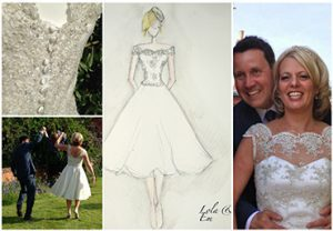 Bridal designer from Warwickshire Lola and Em's wedding dress designs