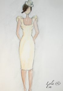 Fitted Lola and Em wedding dress design. Wedding dress designer from Stratford Upon Avon