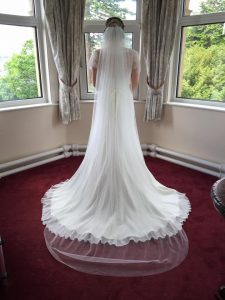 Back of bride's boho wedding dress from Boho Bride Boutique in Warwickshire