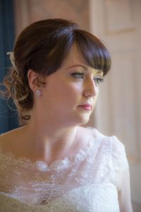 Alternative lace wedding dress from Warwickshire wedding dress shop