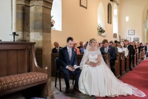Amy and Josh's church wedding in the UK