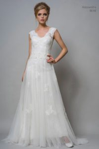 Lace wedding dress by Louise Bentley bridal
