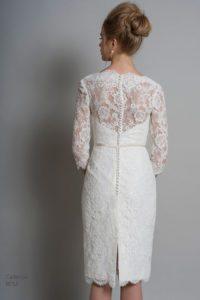 Designer wedding dress by Louise Bentley for mature bride