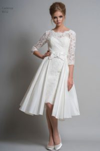 Sleeved Louise Bentley wedding dress with bow