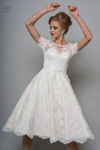 Relaxed wedding dress perfect for outdoor garden party in UK