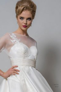 Designer wedding dress by Louise Bentley at Boho Bride boutique wedding dress shop in Stratford, Warwickshire