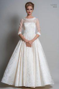 Sleeved wedding dress by Louise Bentley at Warwickshire wedding dress shop