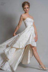 A-line designer wedding dress by Louise Bentley bridal designer Boho Bride Boutique in Stratford
