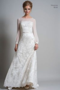 Lace, sleeved Louise Bentley wedding dresses in Stratford Upon Avon