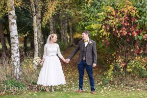 Tea-length wedding dress for outdoor wedding from Boho Bride Boutique in Stratford-Upon-Avon