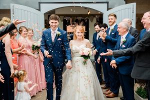 Boho Bride Alice wearing vintage wedding dress from Stratford-Upon-Avon bridal shop