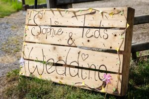 Wedding stationery at outdoor wedding in Stratford-Upon-Avon