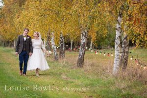 Tea-length wedding dress from Boho Bride Boutique in Stratford-Upon-Avon