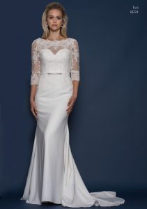 Sleeved lace wedding dress by Louise Bentley