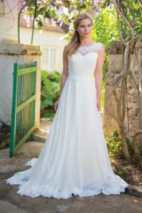Unique wedding dresses with sweetheart neckline and an A-line silhouette in Stratford