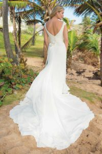 Unique wedding dresses with sweetheart neckline and an A-line silhouette in Warwickshire, England