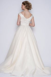 Designer wedding dress by Loulou Bridal at Stratford Upon Avon bridal boutique