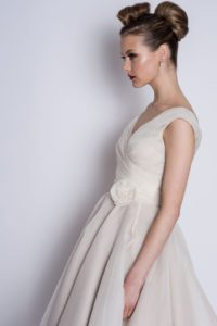 Loulou Bridal wedding dress with rose belt detail