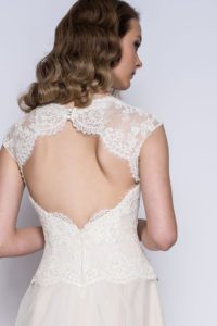 Lace wedding dress by Loulou Bridal
