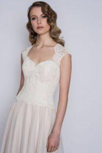 Vintage lace corset wedding dress