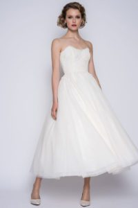 Corseted wedding dress by Loulou Bridal