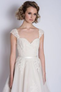 Comfortable wedding dresses with thick straps