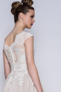 Comfortable fitted wedding dresses with thick straps
