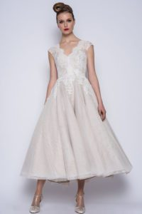 Sophisticated bridal gowns with V-neckline