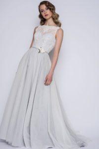 Blue wedding dress at Boho Bride Boutique