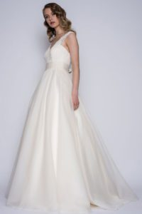 Loulou Bridal wedding dress with thick straps