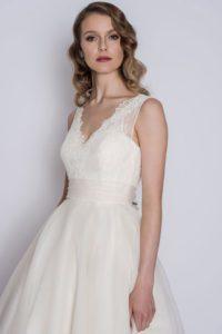 Loulou Bridal wedding dress with empire waistline