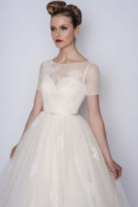 Loulou Bridal wedding dress with sleeves in Warwickshire, UK