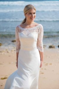 by Ivory and Co wedding dresses with sweetheart neckline and an A-line silhouette in Stratford, Warwickshire