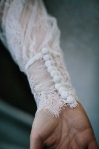 Detailed lace wedding dress in The Freedom Collection by Boho Bride Boutique in Stratford Upon Avon, Warwickshire