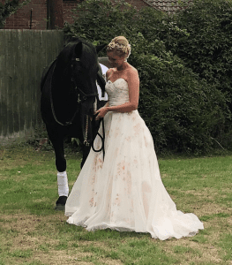 Wedding dress with sweetheart neckline from Boho Bride in Stratford-Upon-Avon wedding dress shop