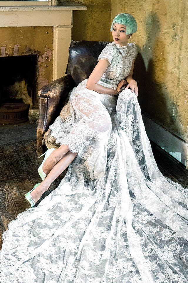 Unique designer wedding dress in Warwickshire, UK