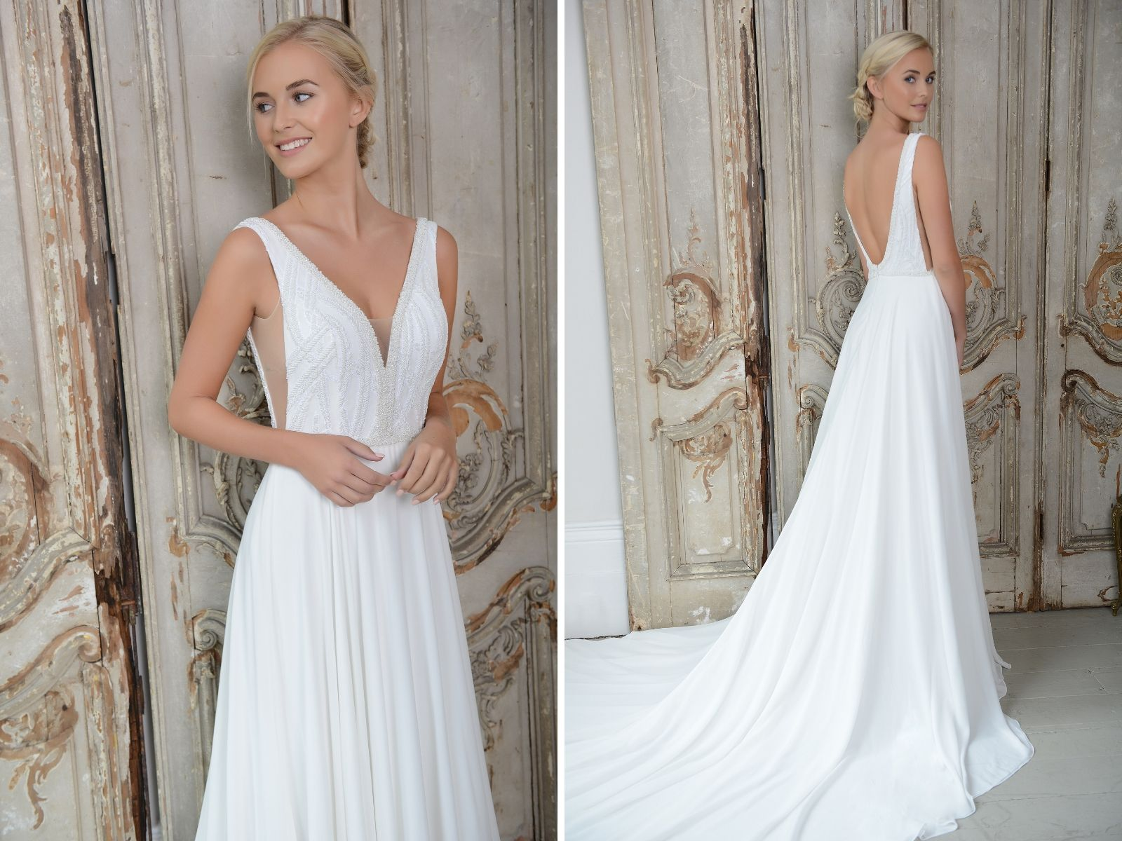 Elegant bridal gown by Loulou Bride