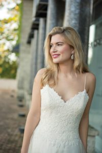 by Ivory and Co strappy summer wedding dresses in North England
