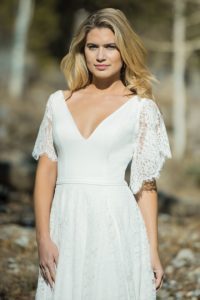 Silver Birch by Ivory and Co flattering wedding dresses with flutter sleeves in Warwickshire