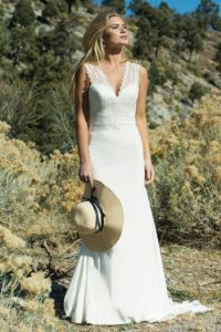 Country Belle by Ivory and Co flattering wedding dresses in Stratford-Upon-Avon