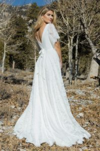 Silver Birch by Ivory and Co backless wedding dresses with flutter sleeves in Warwickshire