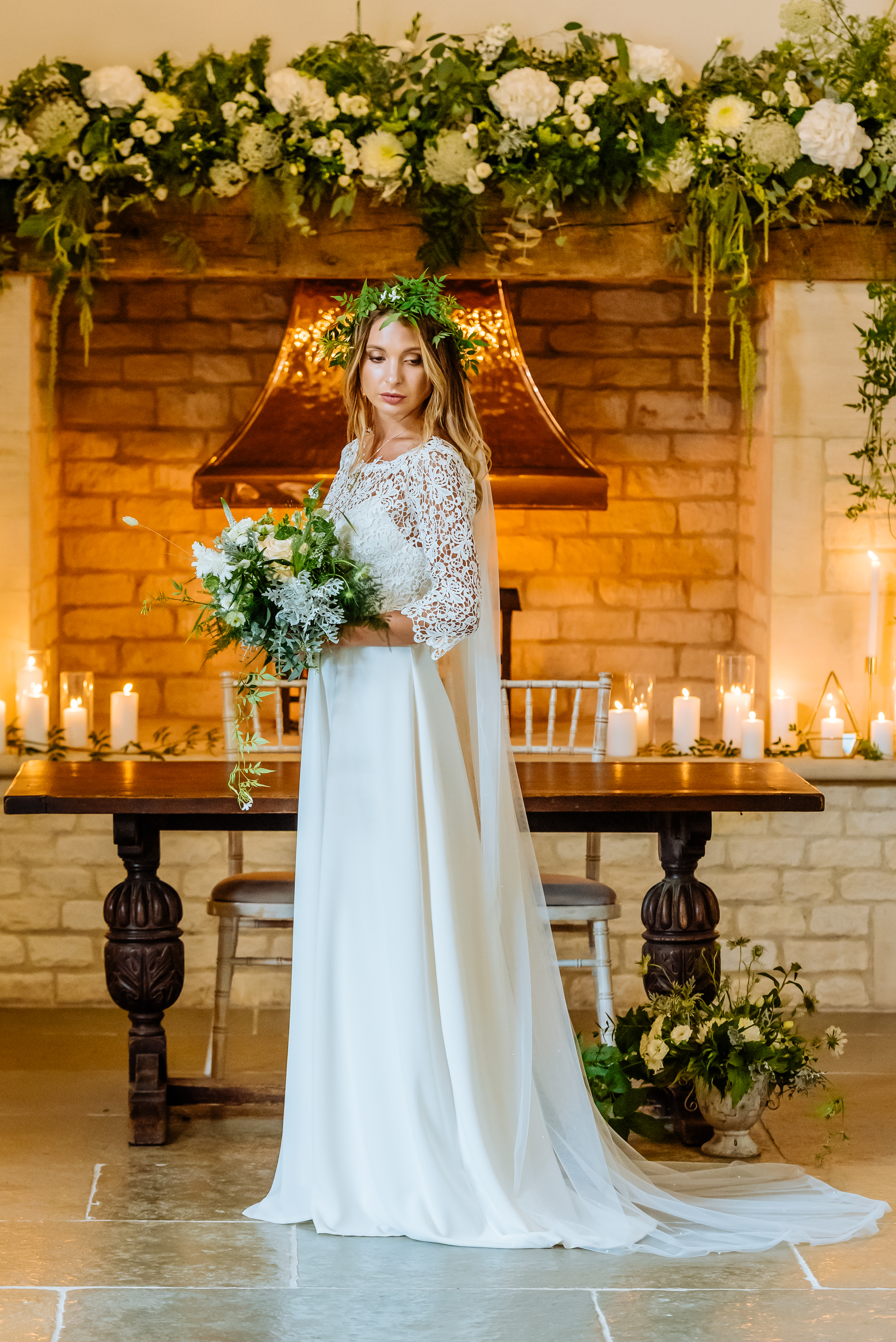 A wedding dress from Boho Bride's Freedom Collection, a collection of wedding dress components that give the bride the freedom to choose her own, unique wedding dress