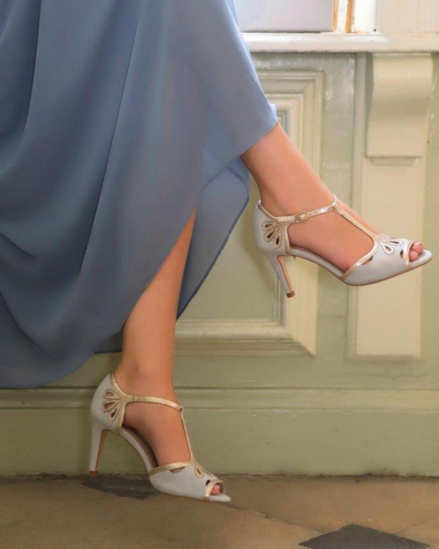 Boho Bride vintage wedding shoes Esme