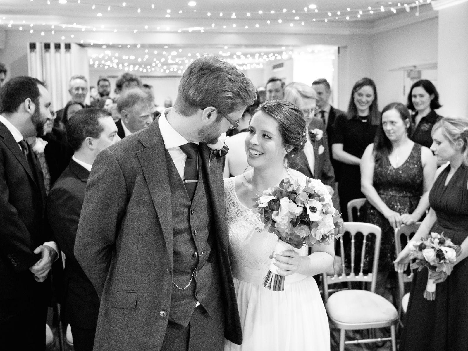 Boho bride Sophie with husband