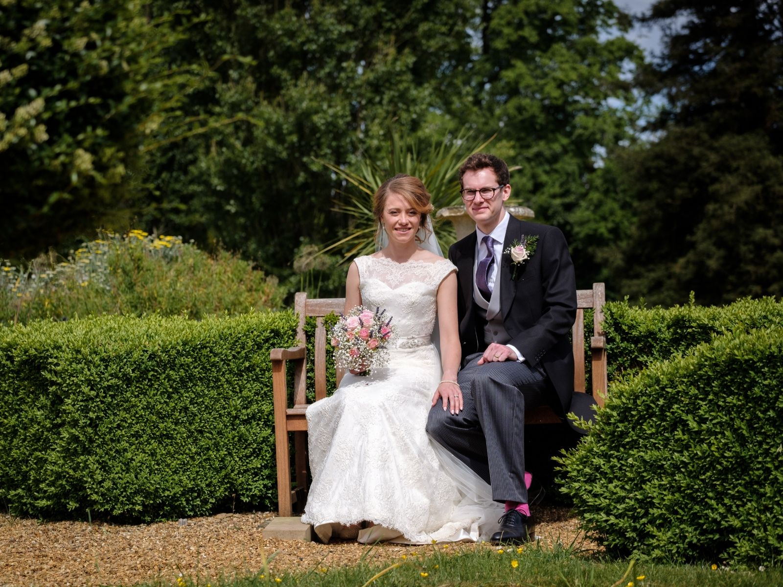 Wedding photography at traditional garden party wedding