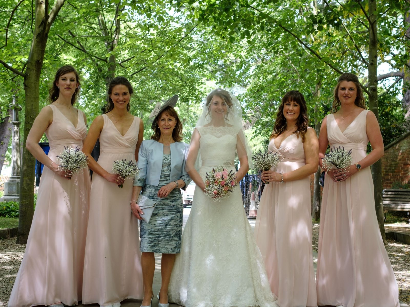 Bridal party for Boho Bride Harriet