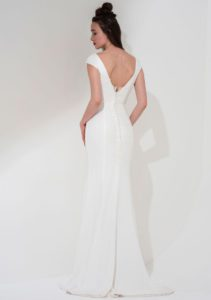 Wedding dress with feature back in Stratford-Upon-Avon, UK
