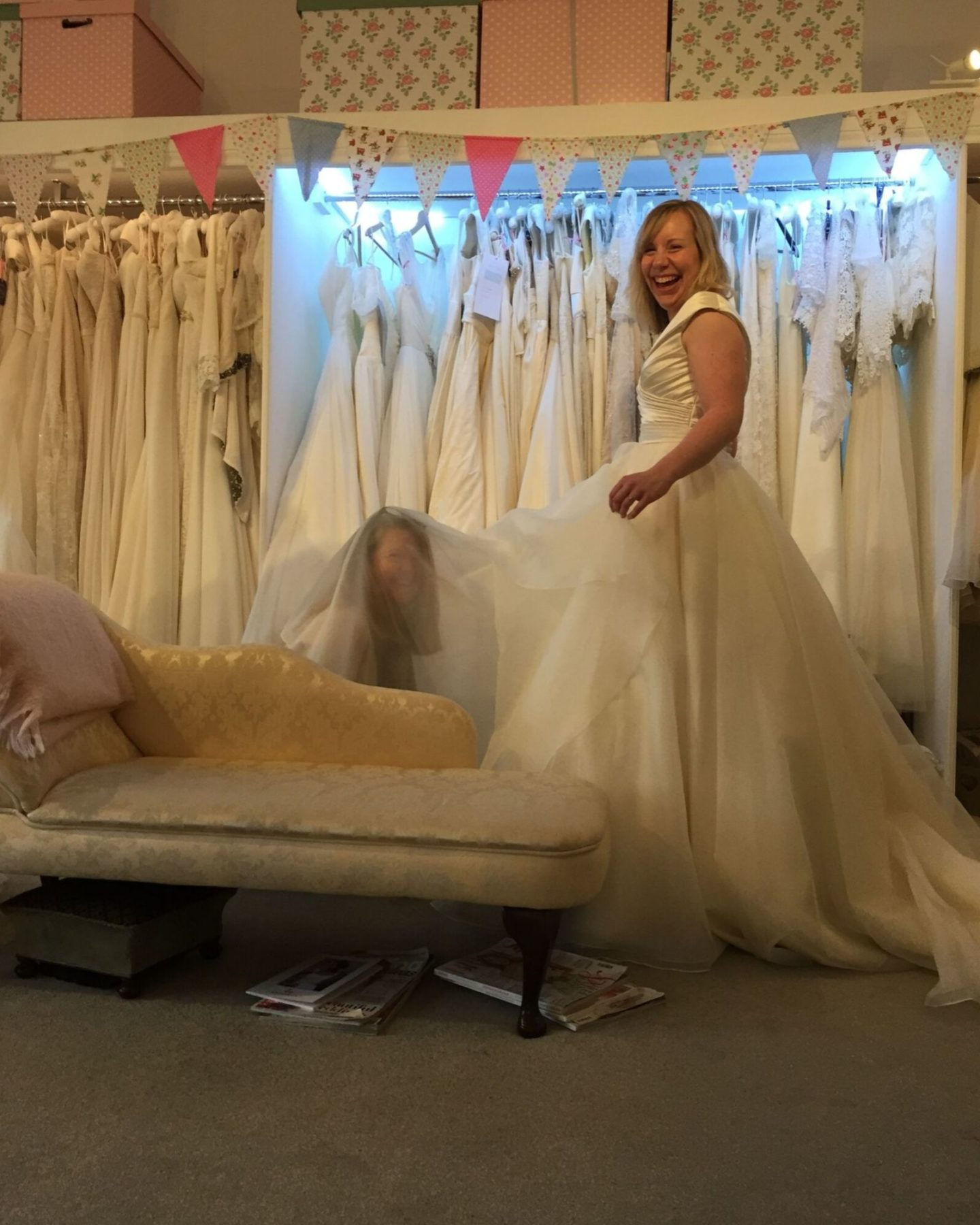 Boho Bride Boutique's Creative Director doing a bridal fitting
