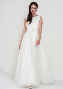 Freda Bennett structured wedding dress in Stratford
